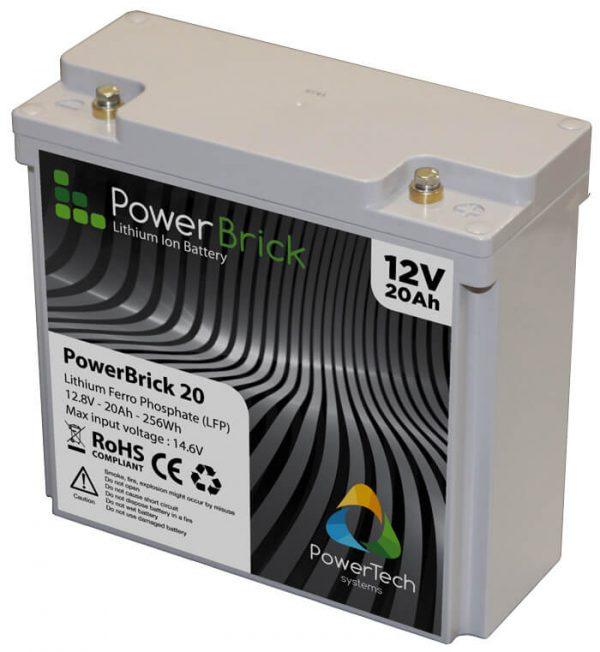 PowerBrick 12V - 20Ah - Lithium Iron Phosphate