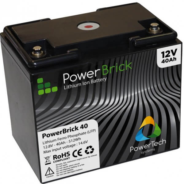PowerBrick 12V - 40Ah - LFP