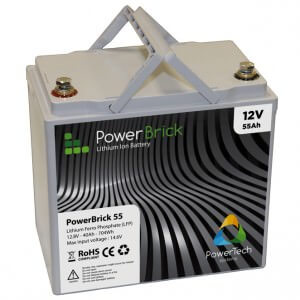 PowerBrick Standard Lithium Ion battery 12V 55Ah
