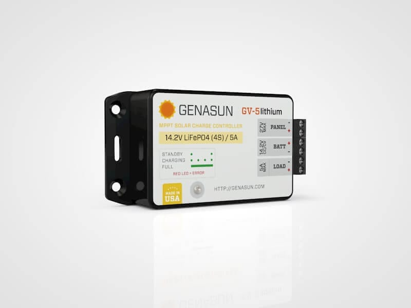 genasun gv5 solar controller for lithium battery mylithiumbattery. Black Bedroom Furniture Sets. Home Design Ideas