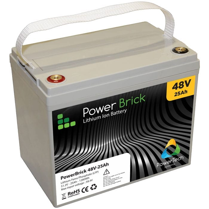 Lithium Ion PowerBrick 48V-25Ah