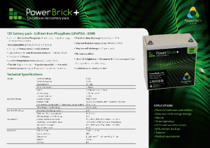 55Ah PowerBrick PRO+ Specifications