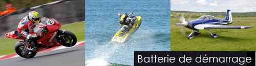 Batteries lithium 12V de démarrage motos avions