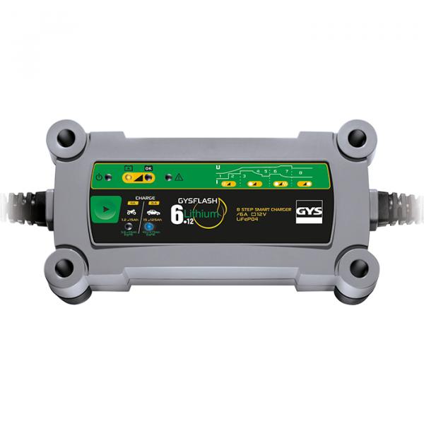 GysFlash 6A 12V LiFePO4 12V charger