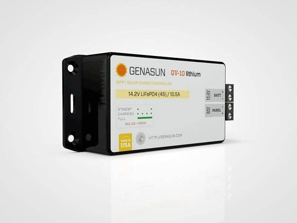 Genasun GV10 Lithium 140W-10A MPPT Solar Controler for 12V Batteries