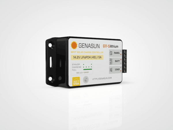 Genasun GV5 Lithium 65W-5A MPPT Solar Controler for 12V Lithium Batteries