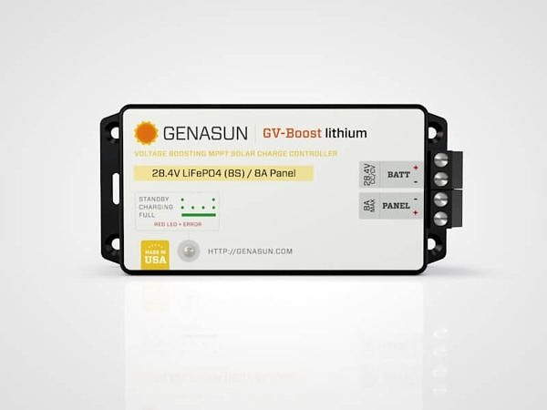 Genasun GV-Boost solar charge controller with MPPT for 24V Lithium Batteries