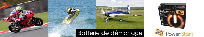 PowerStart : Batteries lithium 12V de démarrage ulm avion rotax