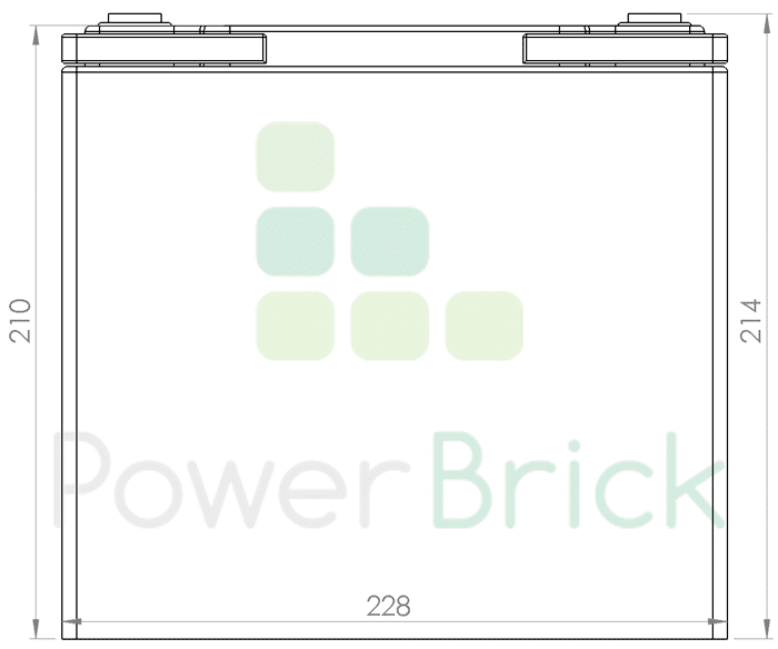 PowerBrick 12V-55Ah - Side