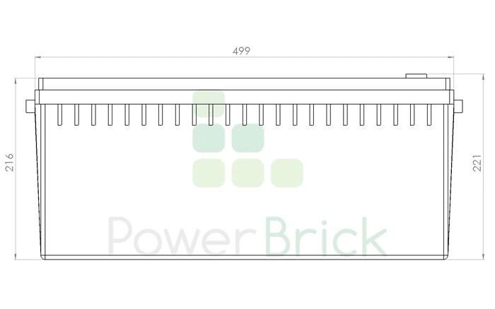 PowerBrick 24V-150Ah - Side