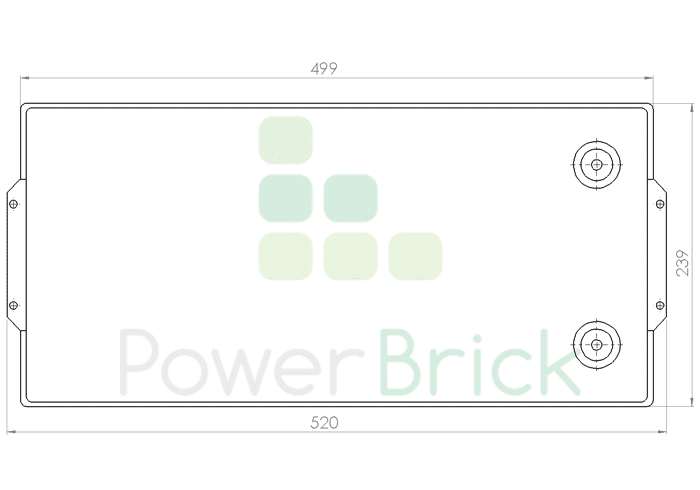 PowerBrick 24V-150Ah - Top
