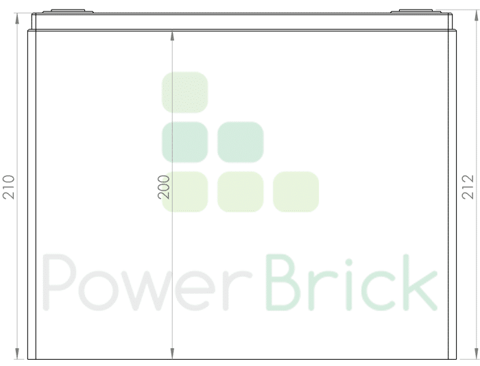 PowerBrick 24V-50Ah - Side