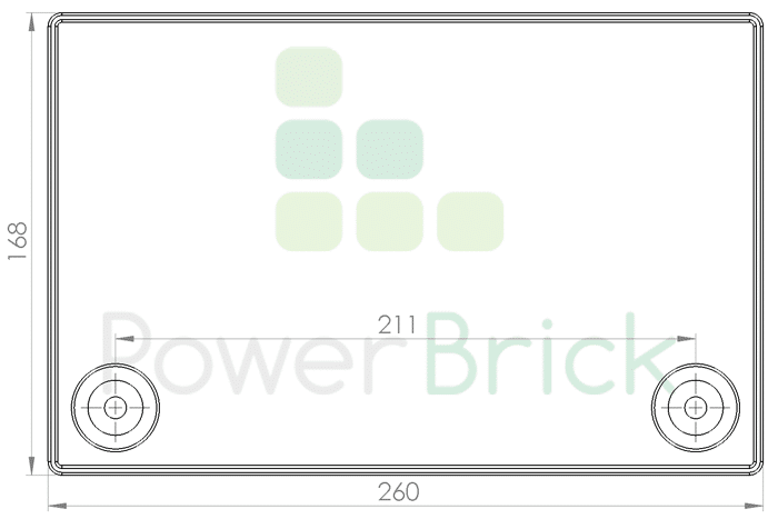PowerBrick 24V-50Ah - Top