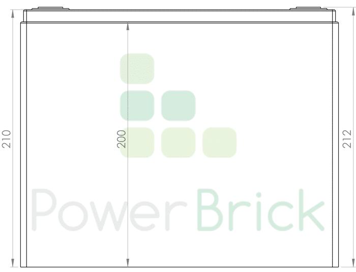 PowerBrick 48V-25Ah - Side