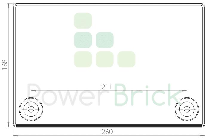 PowerBrick 48V-25Ah - Top