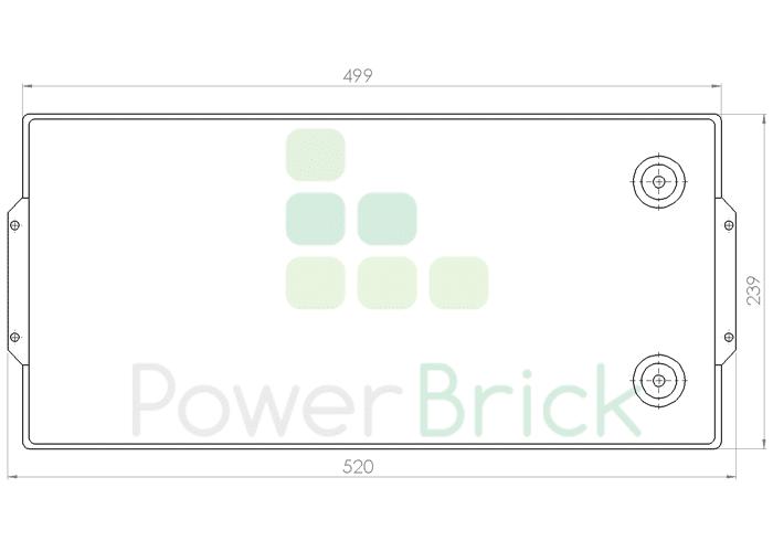 PowerBrick 48V-61Ah - Top